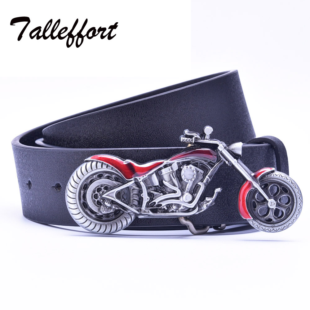 Motorcycle buckle PU leather belt big bu