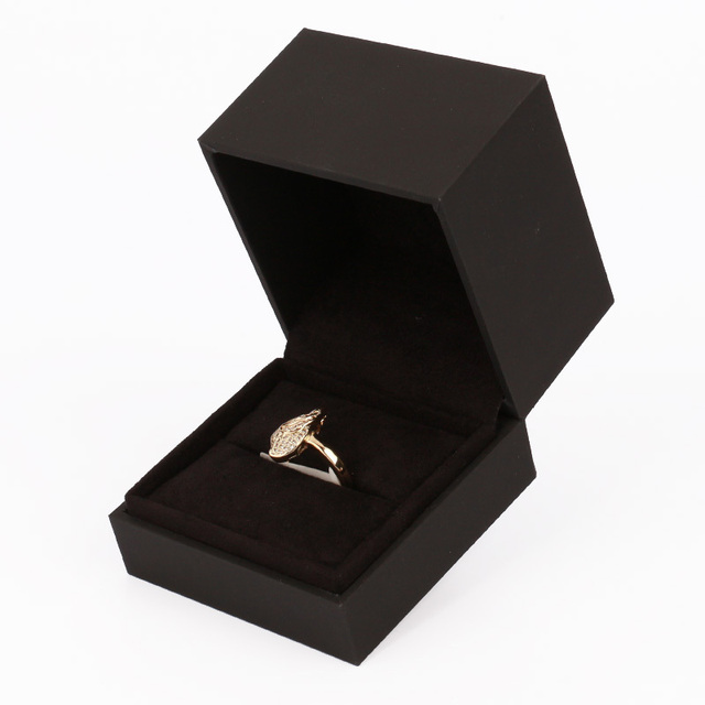 New Design Black Paper Jewelry Display Box Mini Ring Box Cardboard