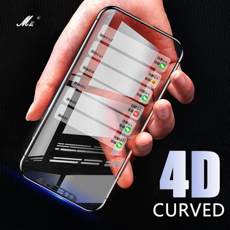 Новый 4D закаленное Стекло для IPhone X 10 Экран протектор на для Apple IPhone X 6 6 S 7 8 плюс Стекло FILN (3D) полное покрытие Стекло
