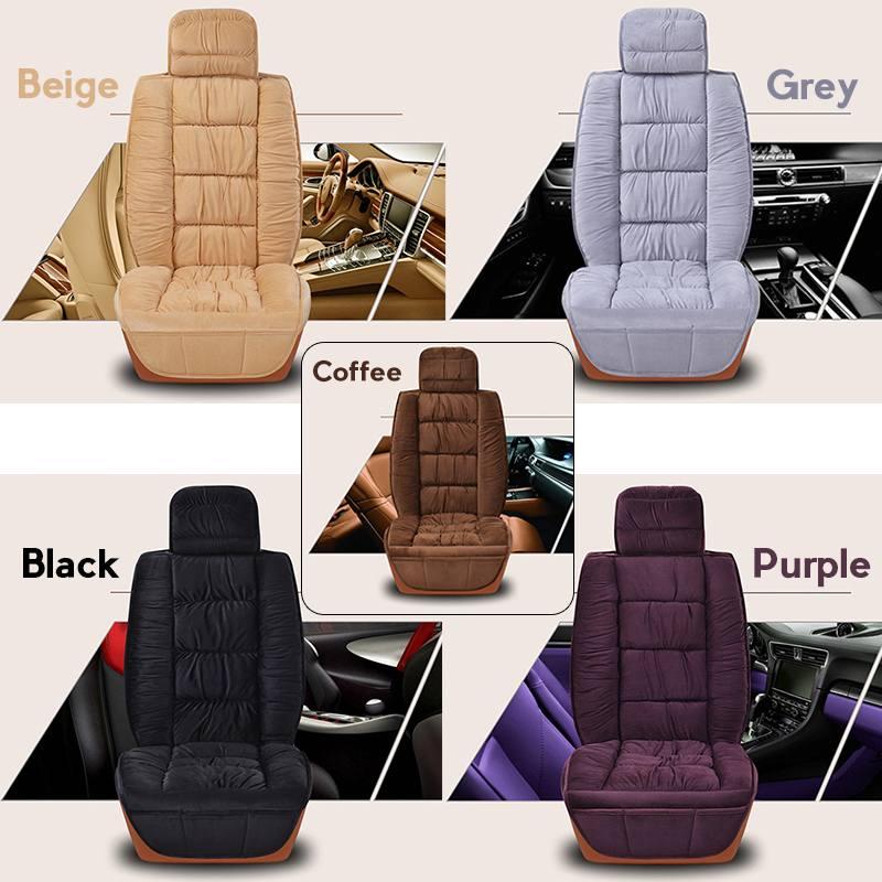 1 x Black Front Car Seat Cover Blend Wool Fur Furry Warm Seat Pad Cushion Soft