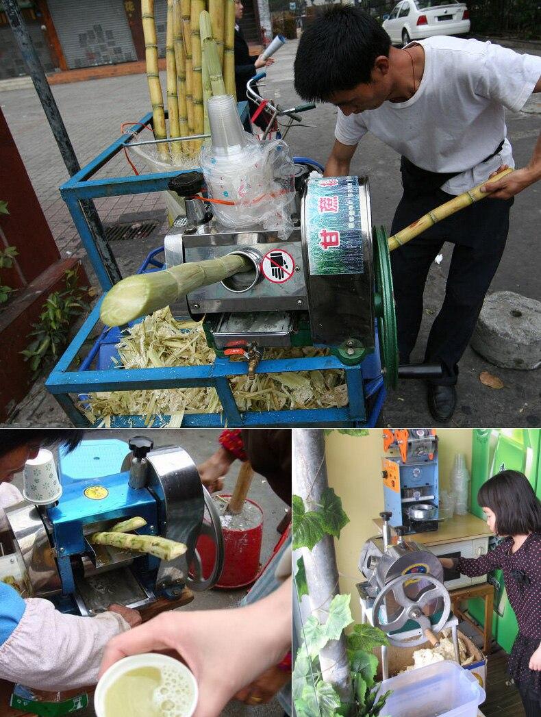 1pc LC SY01 Hand held stainless steel desktop sugar cane machine, cane juice squeezer, cane crusher,Sugarcane juicer machine - 6