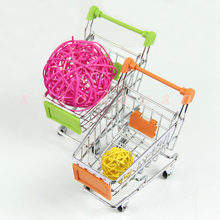 Mini Supermarket Shopping Handcart Practical Pushcart Trolley(China)