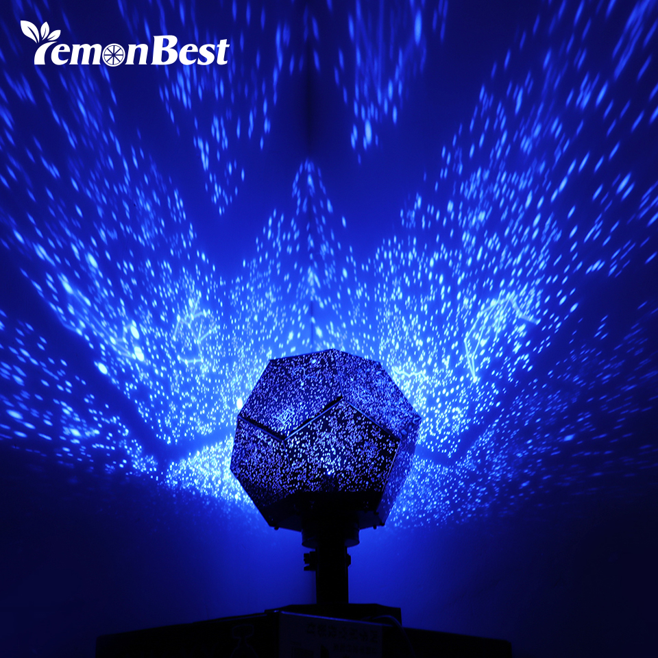 Romantic Projector Night Light Star Projection Lamp DIY Constellation Party
