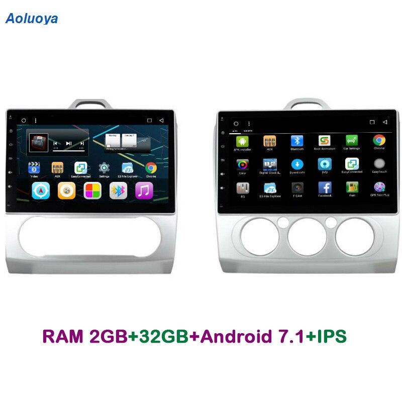 AOLuoya IPS RAM 2 GB + 32 GB Android 7.1 AUTO DVD GPS-speler voor - Auto-elektronica