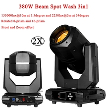 2Pcs/Lot Hot Sale New Stage Effect Lighting 380W 18R Beam Spot Wash 3in1 Moving Head Light Plus ZOOM Features 20/24 DMX Channel