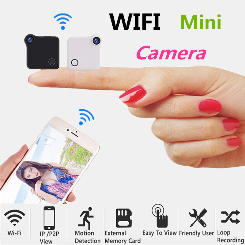 Mini Smart Wireless Wifi Camera HD IP/P2P View Motion Detection Chargeable Battery MP4 Format Loop Recording Security MonitorMini Smart Wireless Wifi Camera HD IP/P2P View Motion Detection Chargeable Battery MP4 Format Loop Recording Security Monitor