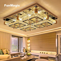 Modern Rectangle Solid Bubble Column Crystal LED Ceiling Light Living Room Study Bedroom Fixture Ceiling Lamp Ceiling Lighting