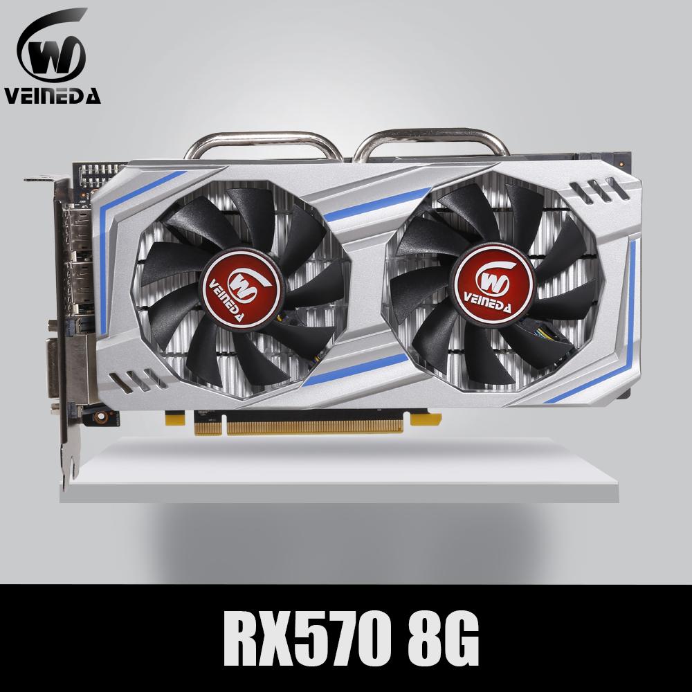 Placa de vídeo RX 570 DirectX 12 8GB 256-Bit GDDR5 rx 570 PCI Express 3.0x16 DP HDMI DVI Pronto para AMD Placa Gráfica geforce jogos