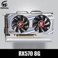 Tarjeta de Video RX 570 DirectX 12 8GB 256-poco GDDR5 rx 570 PCI Express 3,0x16 DP HDMI DVI listo para juegos de tarjetas gráficas geforce AMD