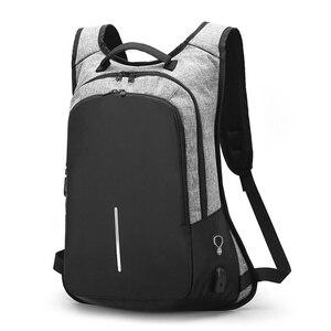 Image 1 - Stilvolle USB Lade Anti diebstahl rucksack Frauen Anti diebstahl rucksack für jugendliche Licht männlichen Laptop rucksack 15,6 zoll Männer