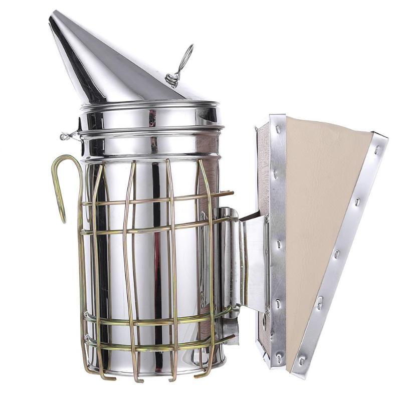 Stainless Steel Manual Bee Smoke Transmitter Kit Beekeeping Tool Apiculture Beekeeping Tool Bee Smoker Smoke Sprayer
