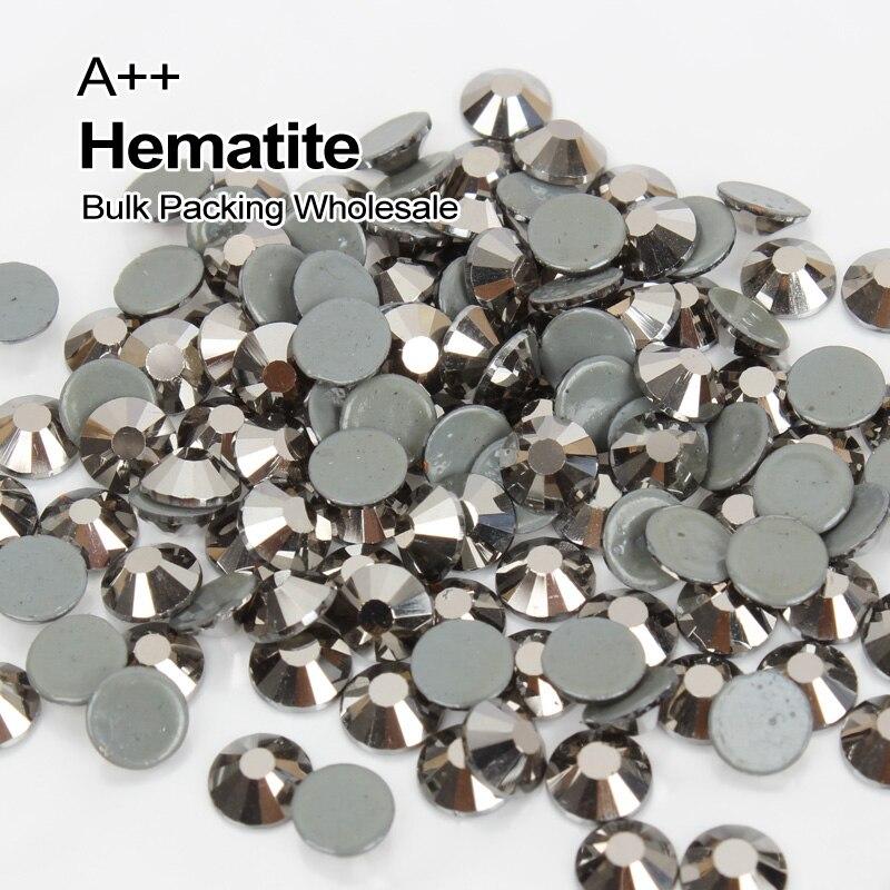 En gros A + + de Haute qualité Correctif Strass Hématite SS6-SS30 Emballage En Vrac Utilisé Pour Vêtir accessoires Décoration