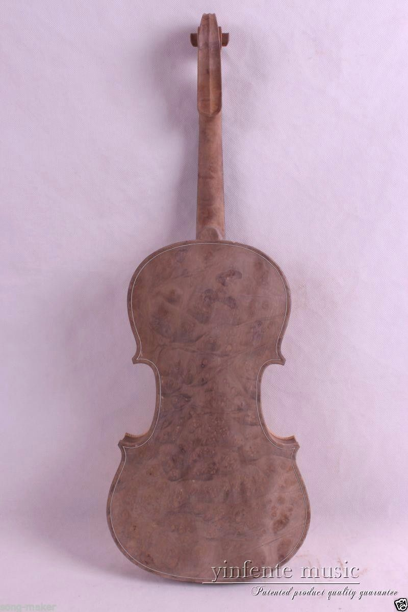 4/4 Unfinished Violin Birdeye Maple wood White Violin Spruce Top New #625 one 4 string 4 4 violin electric violin acoustic violin maple wood spruce wood big jack brown color