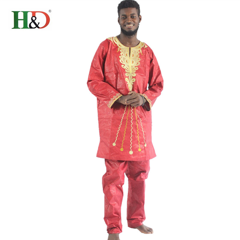 Nieuwe mode traditionele Afrikaanse Bazin katoen vest kleding rijke - Traditionele kleding