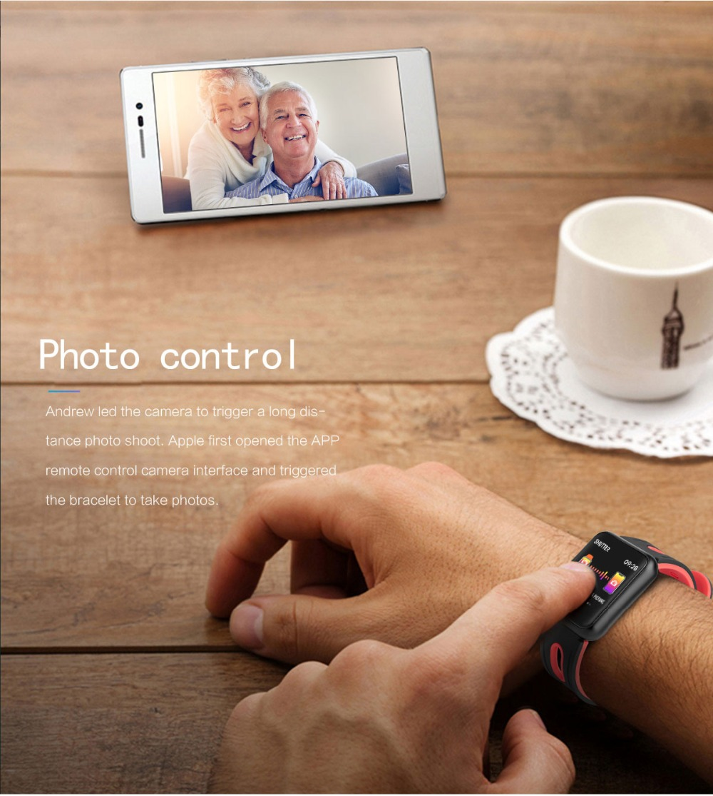 Smart Watch P68 Sports IP68 fitness bracelet activity tracker heart rate monitor blood pressure for ios Android apple iPhone 6 7 17