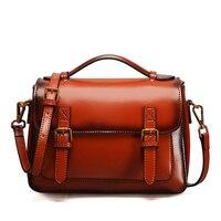 Women Genuine Leather Bags Handbags Female Shoulder Bag Fashion Woman S Handbag Men S Messenger Schoolbag
