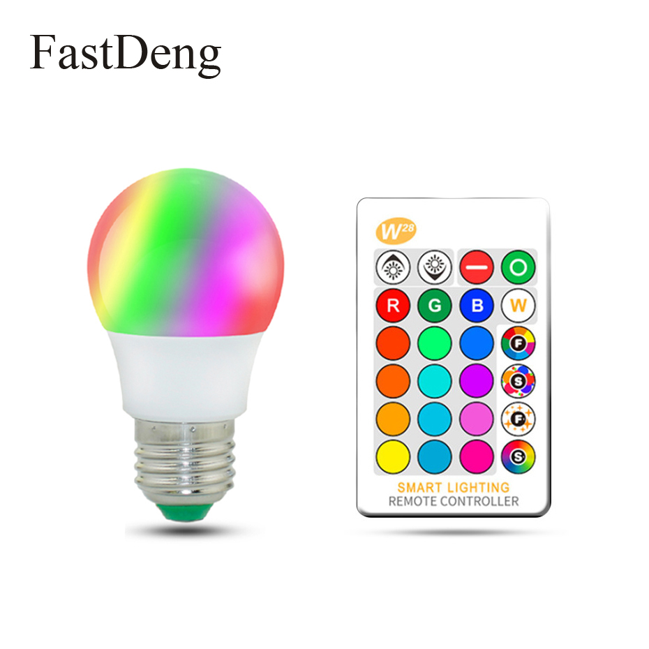 4PCS 10W E27 RGBW Color Changing LED Light Bulb Daylight White Remote Controller
