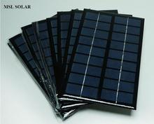MSL SOALR 9V 3W Solar Panel Polycrystalline Top Quality Epoxy Solar Cell Panel 125mm*195mm Mini Portable Solar panels. Free ship