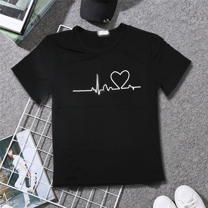 19 New Harajuku Love Printed Women T-shirts Casual Tee Tops Summer Short Sleeve Female T shirt for Women Clothing 14