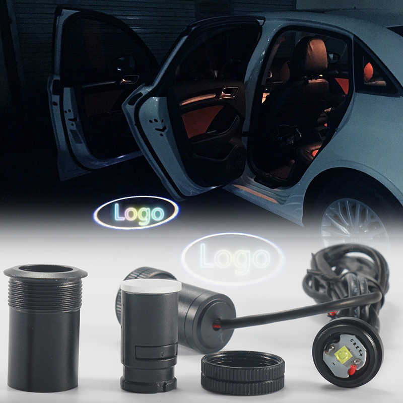2Pcs Car LED Door Welcome Logo Laser Projector For BMW Toyota Honda Nissan Hyundai Kia Volkswagen Audi Ford Ghost Shadow Light