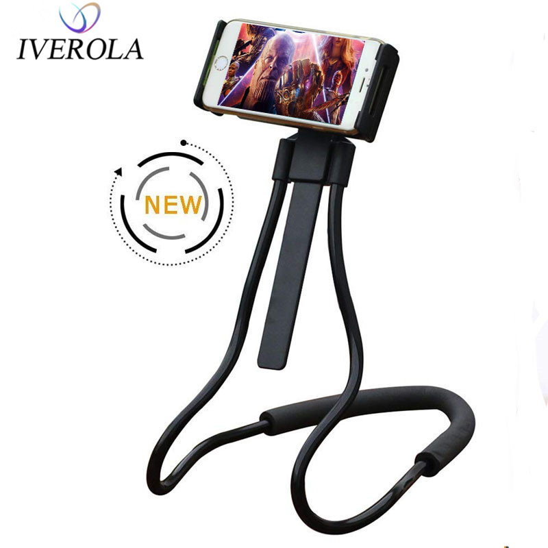 Univerola Flexible Cell Phone Holder Bed Stand Long Arm Lazy Bracket Rotating For Xiaomi iPhone XR  Neck