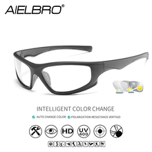Photochromic Sunglasses Driving Men Polarized Chameleon Discoloration Sun Glasses Men Change Color Cycling Sport Fashion Glasses цена и фото