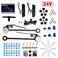 Universal 24V Car/Truck 2-Doors Electric Power Window Kits 3pcs/Set Moon Switches and Harness #FD-4421