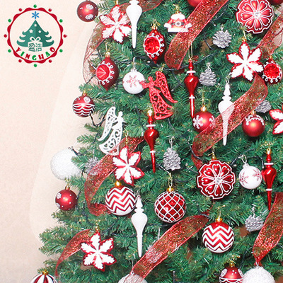 Bola de Navidad adornos Gif Set bolsa bola colorido adornos con letras Merry Christmas Set palline natale árbol de Navidad bolas colgantes - 4
