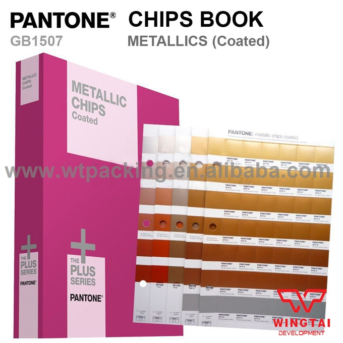 2017 Newest 1 book METALLICS CHIPS COATED GB1507 Pantone Color Guide 2 book pantone colour chart gp1606n solid chips coated