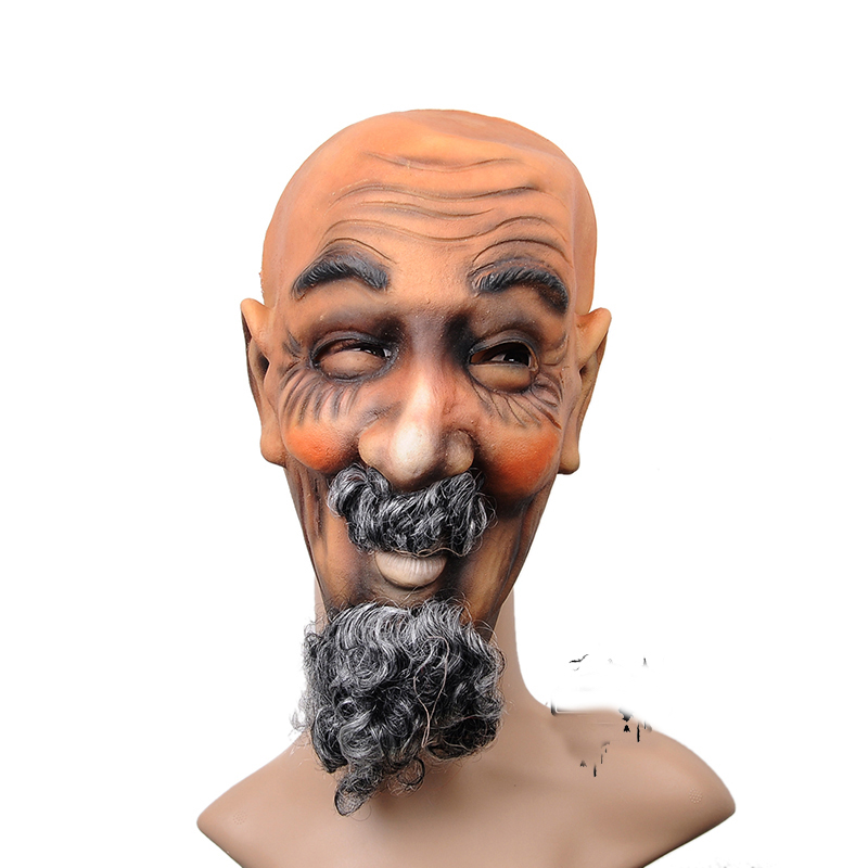scary latex devils bearded man terror halloween mask horror ghost full mask mascara cosplay carnival fancy