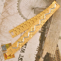 24 К Золотые Часы Цепи Браслеты Для Человека 20 СМ длина 12 мм ширина