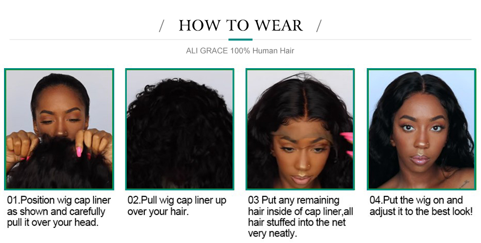 HTB1NJlAbEvrK1RjSspcq6zzSXXaO Ali Grace Curly Lace Front Wigs With Baby Hair Remy Short Curly Bob Wigs 13*4 Brazilian Afro Kinky Curly Human Hair Lace Wig
