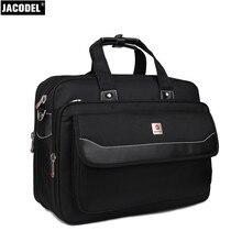 Jacodel большой плеча Повседневное сумка 17 дюймов Для мужчин Бизнес mssenger мешок для Для мужчин Ткань Оксфорд ноутбук Портфели черный Цвет сумки