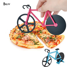 BXLYY Sale Stainless Steel Pizza Knife Two-wheel Bicycle Shape Cutting Tool DIY Home Decoration Accessories.8z