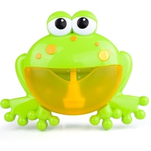 2019 Kids Swimming Water Toy Baby Bath Toys Frogs Crab Bubble Maker Blower Automatic With Music Wash Bath Play Toy for Children