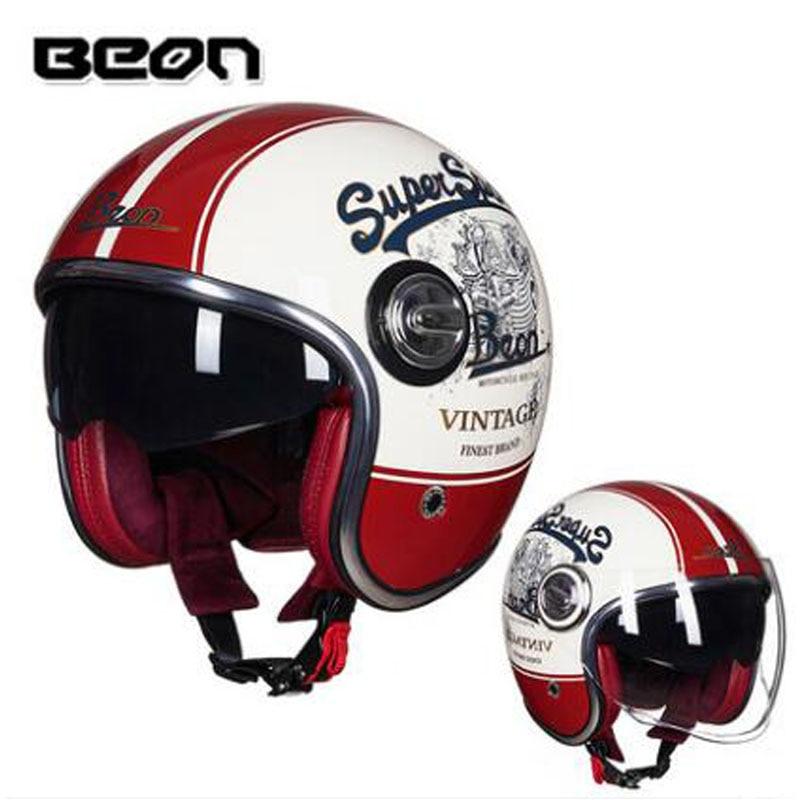 2018 winter new beon b 108a retro harley helmet men women. Black Bedroom Furniture Sets. Home Design Ideas