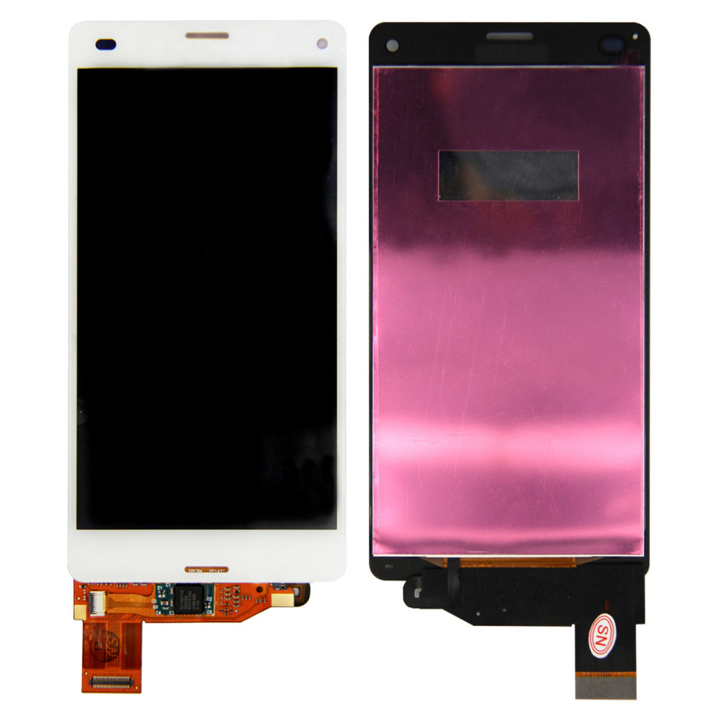 ФОТО Free Shipping For Sony Xperia Z3 Compact Mini D5803 D5833 LCD Display Screen & Digitizer Glass Assembly White
