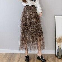 35106026cd Elegant Summer 2019 Women Long Skirt Chiffon Saia Beach Bohemian Maxi Skirts  High Waist Tutu Casual
