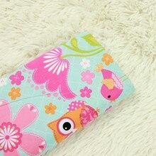half meter plain cartoon owl little bird print fabric, handmade DIY garment dress children cloth 100% cotton B51
