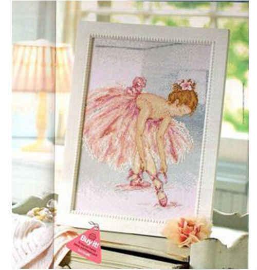 Pacchetto ricamo punto croce kit unopen nuovo e lussuoso balletto ragazza diy artigianato ricamo kit spedizione gratuita