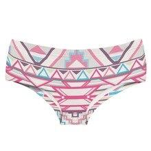 LEIMOLIS aztec Geometric pink funny print sexy hot panties female kawaii Lovely underwear push up briefs women lingerie thongs
