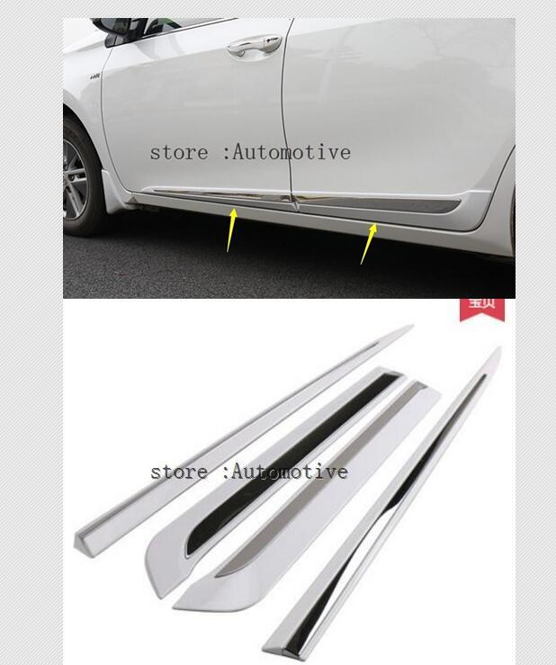 High Quality Car styling Side Door Body Molding Cover Trim For TOYOTA COROLLA 2014 2015 2016