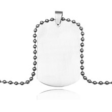 Suteyi Newest Blank Mens Military Army Style 316L Stainless Steel Dog Tags Chain Mens Pendant Necklace Jewelry Accessories(China)