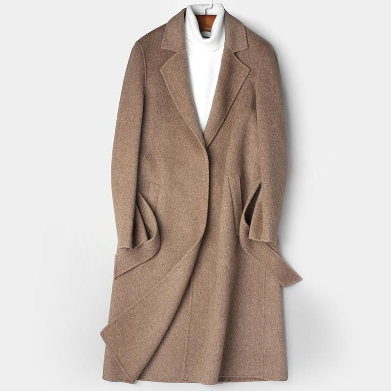 Abrigo Hombre Laine 2018 Vêtements My801 Double Khaki face black Manteau gray Automne Hommes Long Pardessus D'hiver Ayunsue Main Veste RjL435A