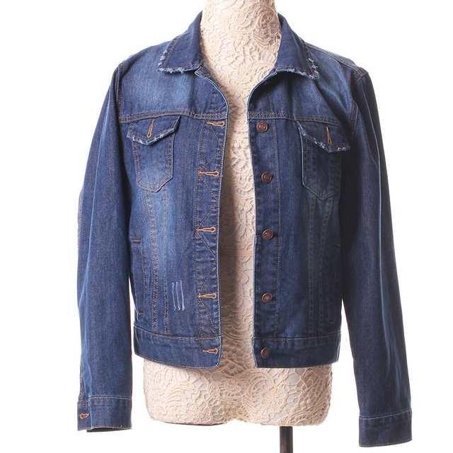 1957bd44f07 placeholder Fashion Women Denim Jacket Plus Size S-4XL Vintage Cropped  Short Denim Jackets Long-