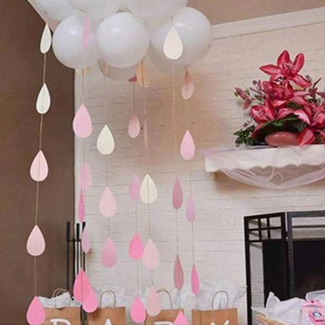 1 2 m gota de chuva pendurado guirlanda de papel gradua o for Dekor kamar hotel buat ulang tahun