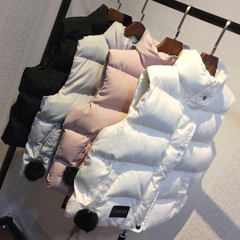 Women Winter Vest Waistcoat 2019 Autumn Vest Female Casual Warm Vests Women's Sleeveless Jacket Coat