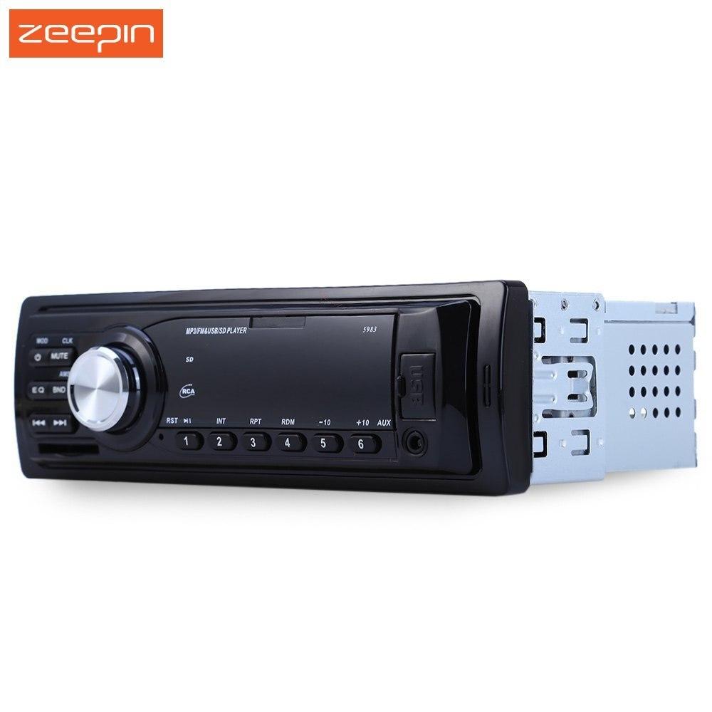 12 v Auto Radio Audio Player Stereo MP3 FM Transmitter Unterstützung FM USB/SD/MMC Kartenleser 1 DIN In Dash Auto Elektronik