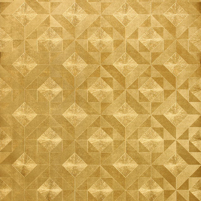 Modern luxury gold mosaic wallpaper ceiling living room tv for Mosaic wallpaper for walls