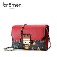 BROMEN Famous Designer Brands New Cartoon Printed Flap Women Shoulder Bags Female Purse Cluth Handbags Girls Mini Crossbody Bag